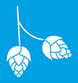 branch of hops icon white vector image vector image