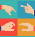 business hands action vector image vector image