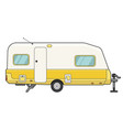camping trailer icon mobile motor auto for vector image