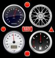 car gauges vector image vector image
