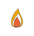 color sections silhouette of small flame with vector image vector image
