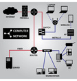 computer network connection icons eps10 vector image vector image