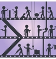 Construction worker silhouettes vector image vector image