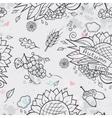 Contour seamless texture autumn theme vector image vector image