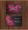 dark modern business card design template with vector image