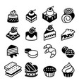 dessert bakery icon set vector image vector image