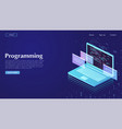 development and software concept of programming vector image vector image