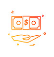 dollar icon design vector image