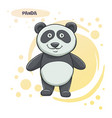 drawn cartoon panda vector image