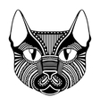 ethnic patterned ornate decorative face cat vector image vector image