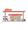facade of building of petrol gas or filling vector image