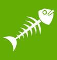 fish bone icon green vector image vector image