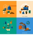 Garbage Icons Flat vector image