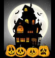 haunted house silhouette theme image 8 vector image vector image