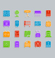 hvac patch sticker icons set vector image vector image