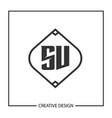 initial letter sv logo template design vector image