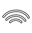 line wifi digital symbol to digital information vector image vector image