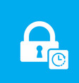 lock icon with clock sign vector image vector image