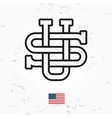 Made in USA monogram Vintage America logo vector image vector image