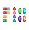 medicine painkiller pills template set color vector image vector image