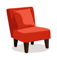 modern red soft armchair with upholstery vector image