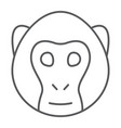 monkey thin line icon animal and zoo vector image vector image
