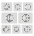 monochrome icons with symbols of sniper scope vector image vector image