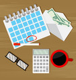 monthly budget audit counting vector image vector image