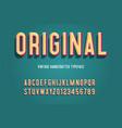 original vintage handcrafted 3d alphabet vector image vector image