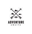 outdoor adventure archer hunter travel badge logo vector image