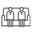 people in sofa icon outline style vector image vector image