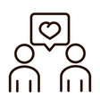 people message love community and partnership line vector image vector image