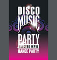 poster for dance music party with audio speaker vector image