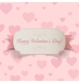Realistic Valentines Day greeting paper Banner vector image vector image