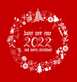 red christmas background with bauble vector image