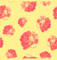 roses pattern bunch of flowers repeating print vector image vector image