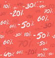 sale seamless pattern with discount percentage 70 vector image