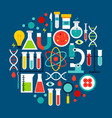 science laboratory circle concept vector image vector image