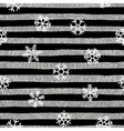 Seamless snowflakes pattern on striped background vector image vector image