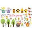 set isolated elements spring vector image vector image
