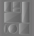 set of glass plates vector image vector image
