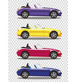 set of modern cartoon colored cabriolet cars vector image vector image