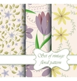 set of seamless patterns vintage floral vector image vector image
