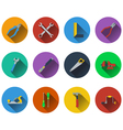 Set of tools icons in flat design vector image vector image