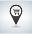 shopping cart pointer icon isolated on white vector image vector image