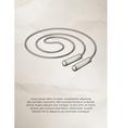 Skipping rope Vintage Label Logo Frame vector image vector image