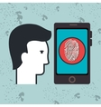 smartphone app silhouette vector image vector image
