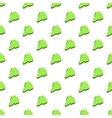 South Korea green map pattern cartoon style vector image vector image