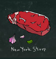 striploin new york strip steak cut isolated vector image vector image