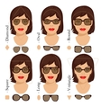 sunglasses shapes 2 vector image vector image